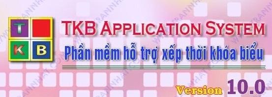 Phần mềm xếp thời khóa biểu tkb 10.0