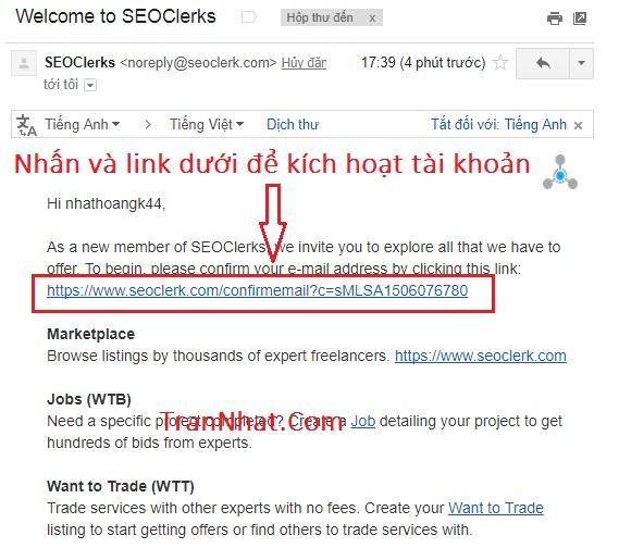 đăng ký seoclerks.com